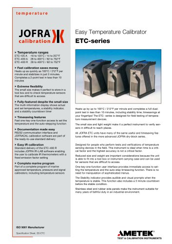 ETC Series - Dry-block