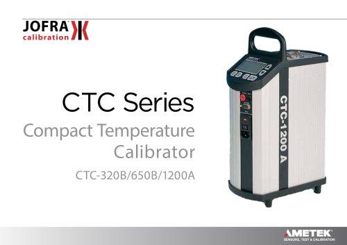 JOFRA Compact Temperature Calibrator CTC 320B, 650B, 1200A datasheet