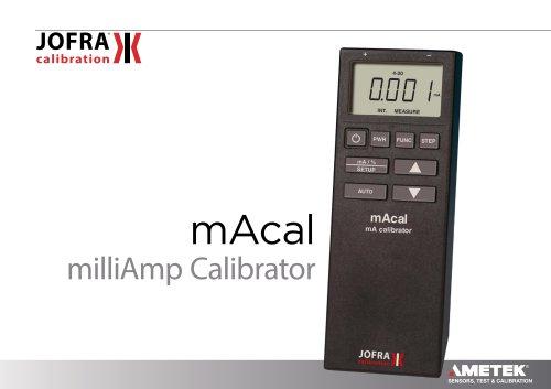 mACal - mA Loop Calibrator