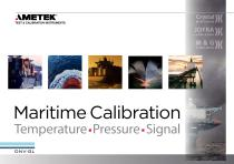 Maritime Calibration Temperature, Pressure, Signal
