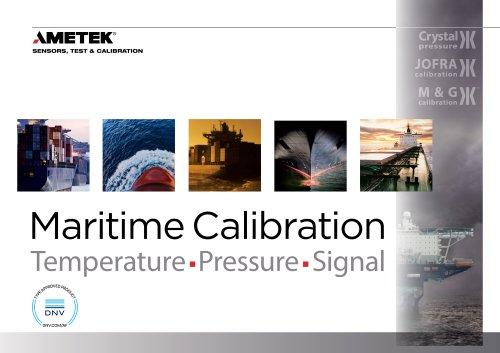 Maritime Calibration Temperature, Pressure, Signal
