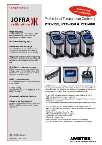 PTC Series - Dry-block calibrator