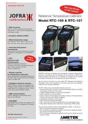 RTC-156/157 Dry-block calibrator