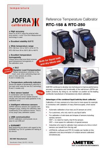 RTC-158/250 Dry-block / Liquid Bath Calibrator