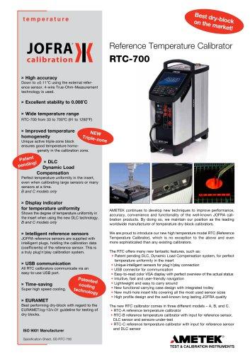 RTC-700 Dry-block calibrator