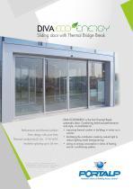 DIVA ECOENERGY Sliding door with thermal bridge break