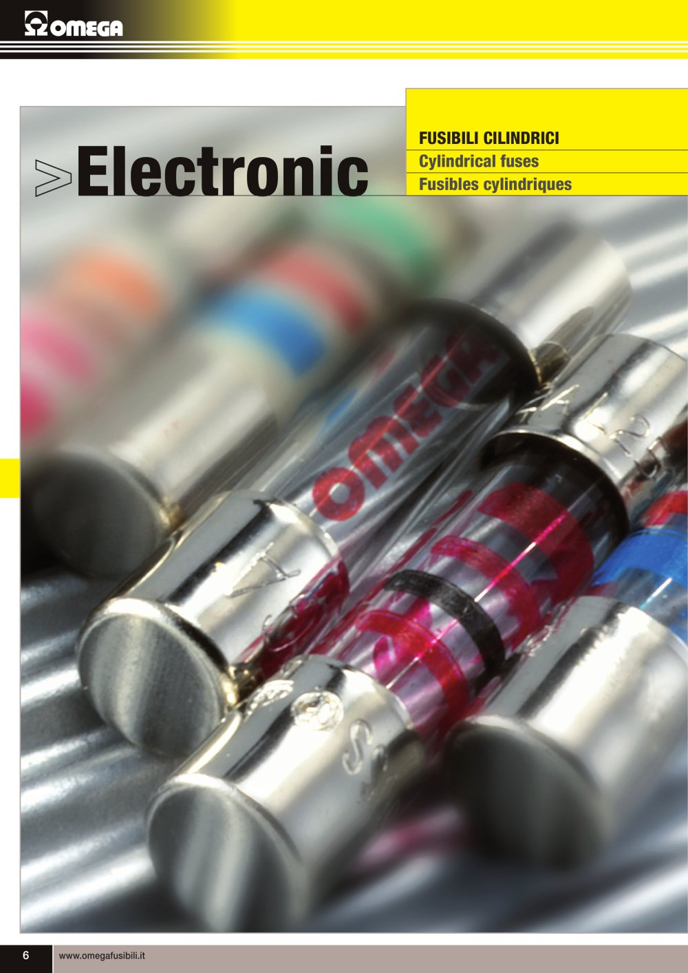Cylindrical Fuses Omega Fusibili Pdf Catalogue Technical The Fuse Box Circuit Builder 1 34 Pages