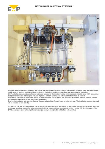 HOT RUNNER INJECTION SYSTEMS AND SPARE PARTS