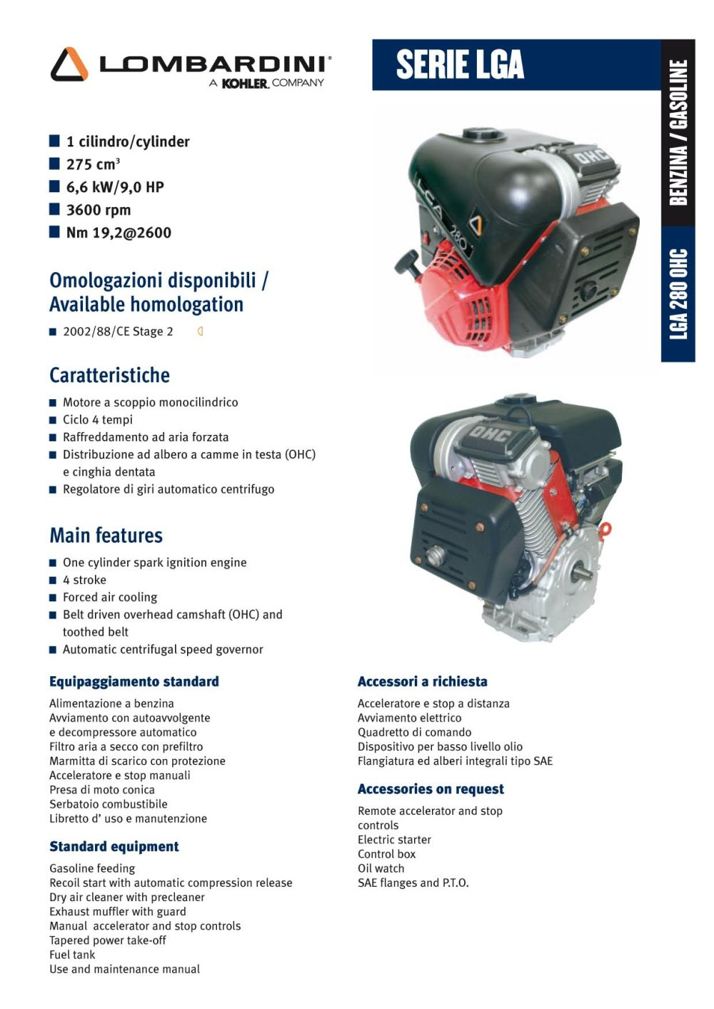 Ldw 502 Lombardini Pdf Catalogue Technical Documentation 2600 Hp Kohler Engine Schematics 1 2 Pages