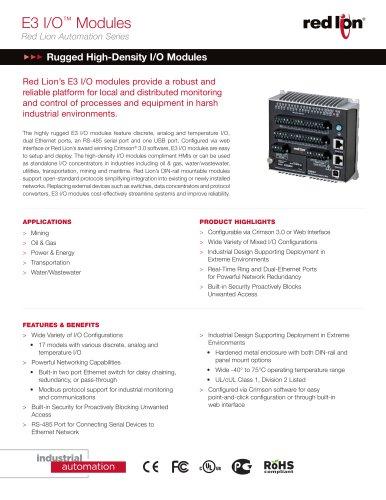 E3 I/O ™  Modules