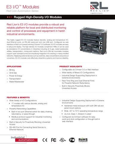 E3 I/O™ Modules