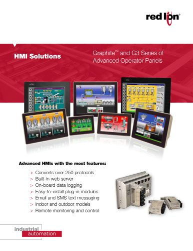 HMI Solutions - Graphite and G3 Series of Advanced Operator Panels