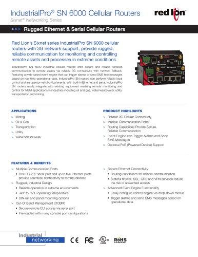 SN-6000 3G Data Sheet