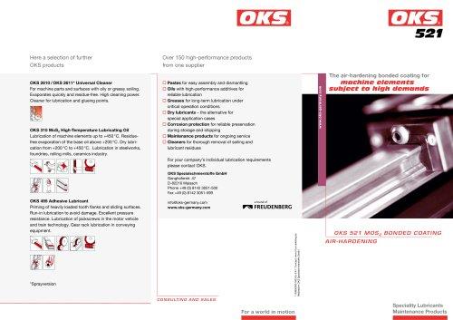 OKS 521 - MoS2 Bonded Coating, air-hardening