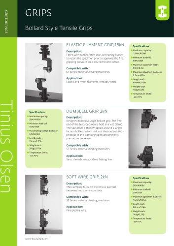 Bollard Style Tensile Grips from Tinius Olsen