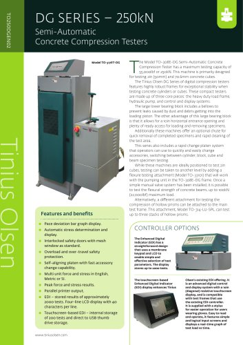 DG SERIES – 250kN Semi-Automatic Concrete Compression Testers from Tinius Olsen