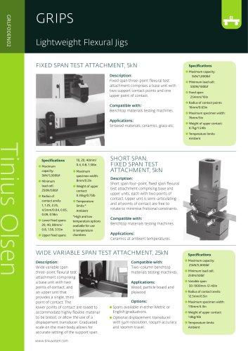 GRIPS - Lightweight Flexural Jigs from Tinius Olsen