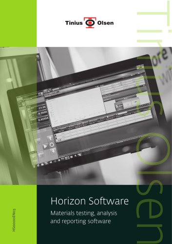 Horizon Software - Materials testing, analysis and reporting software from Tinius Olsen