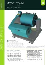 MODEL TO-441 Laboratory Ball Mill from Tinius Olsen