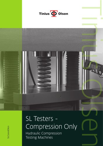 SL Testers - Compression Only Hydraulic Compression Testing Machines from Tinius Olsen