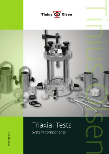 Triaxial Tests System components from Tinius Olsen