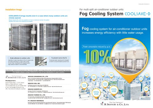 Cooling system for AC- COOLSAVE series