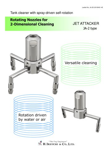 Rotating nozzles for 2 dimension cleaning JA-2 series