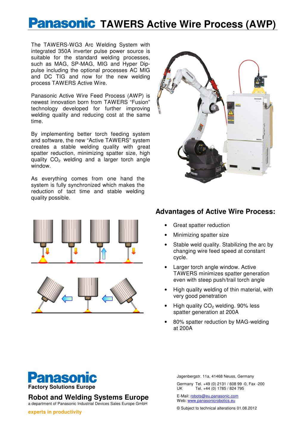 Tawers Active Wire Process Panasonic Robot Welding Pdf Diagram Of Torch 1 Pages