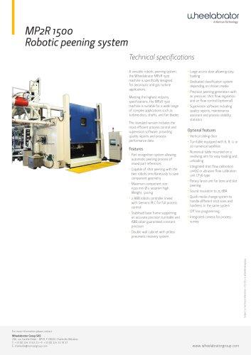 MP2R 1500 Robotic peening system