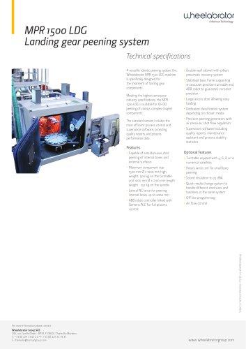 MPR 1500 LDG Landing gear peening system