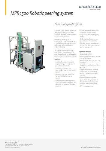 MPR 1500 Robotic peening system