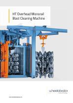 Wheelabrator HT Overhead Monorail Blast Cleaning Machine