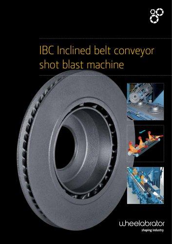 Wheelabrator IBC Inclined Belt Conveyor Blast machine
