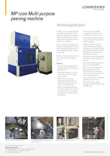 Wheelabrator MP1200 Transmission / Gear Peening System