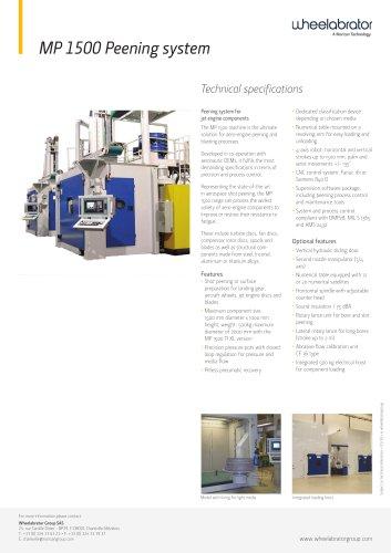 Wheelabrator MP1500 Peening System