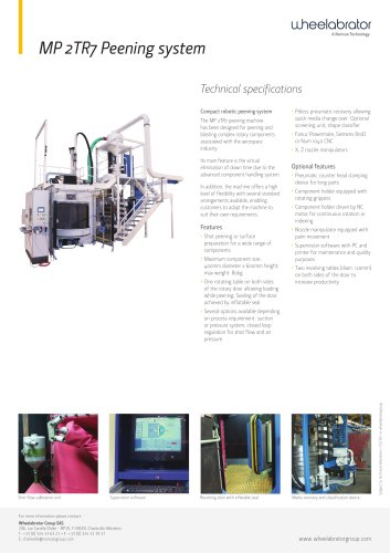 Wheelabrator MP2TR7 Peening System