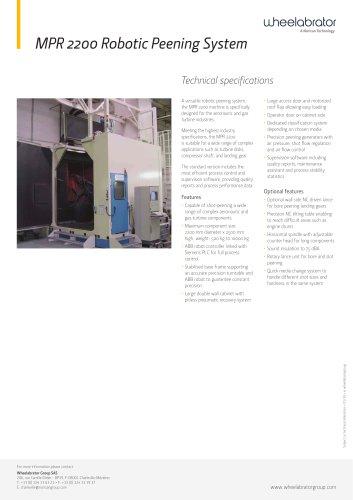 Wheelabrator MPR2200 Robotic Peening System