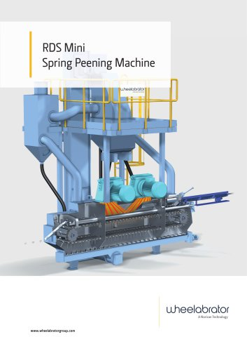 Wheelabrator RDS Mini Spring Peening Machine
