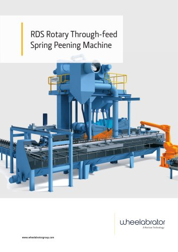 Wheelabrator RDS Rotary Through-feed Spring Peening Machine