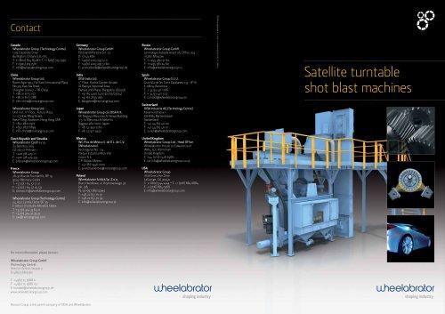 Wheelabrator Satellite turntable shot blast machines