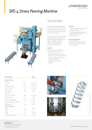 Wheelabrator SRS-4 Stress Peening Machine