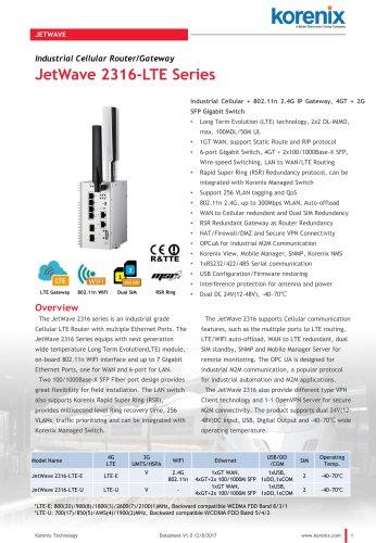 JetWave 2316-LTE Series
