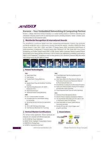 Korenix 2011 Embedded Brochure