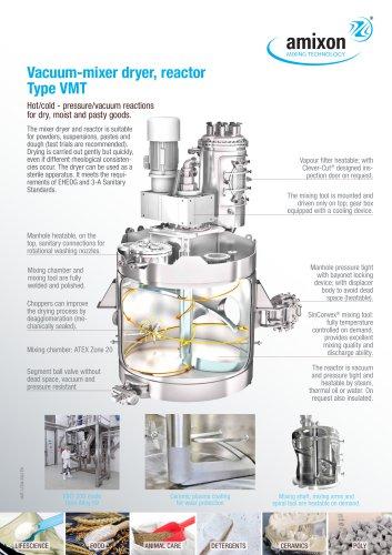 Mixer dryer and vacuum dryer Type VMT
