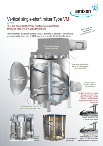 Vertical single-shaft mixer Type VM