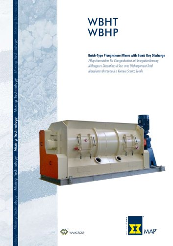 Batch-Type Ploughshare Mixers with Bomb Bay Discharge WBHT WBHP Brochure
