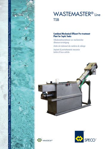 Combined Machinal Effluent Pre-Treatment Plant for Septic Tanks TSB Brochure