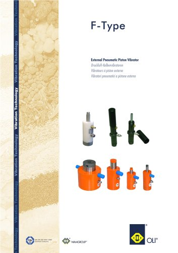 External Pneumatic Piston Vibrator F-TYPE Brochure