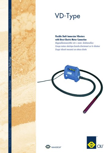 Flexible Shaft Immersion Vibrators with Direct Electric Motor Connection VD-TYPE Brochure