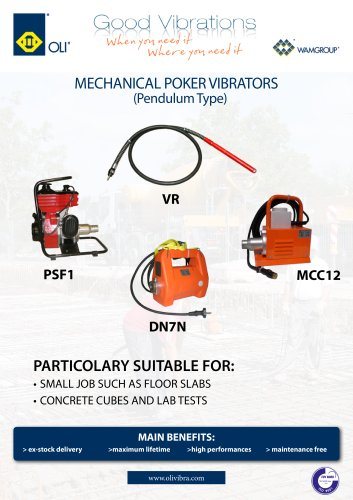 Machinal Poker Vibrators Penducum Type VR  Brochure